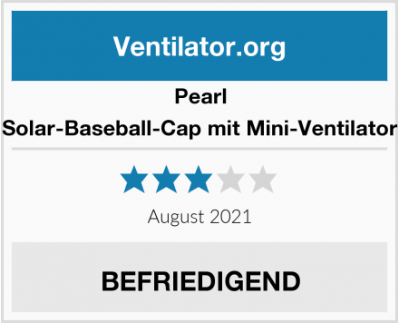 Pearl Solar-Baseball-Cap mit Mini-Ventilator Test