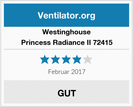 Westinghouse Princess Radiance II 72415 Test