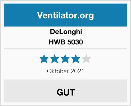 DeLonghi HWB 5030 Test