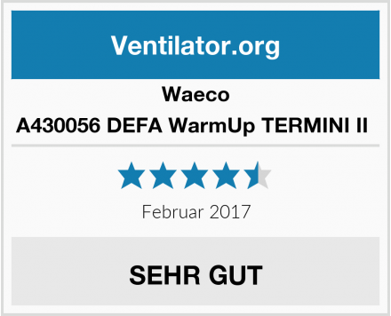 Waeco A430056 DEFA WarmUp TERMINI II  Test
