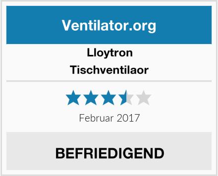 Lloytron Tischventilaor Test