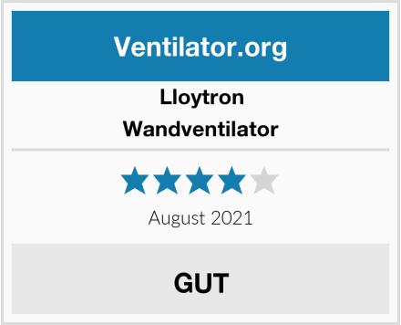 Lloytron Wandventilator Test