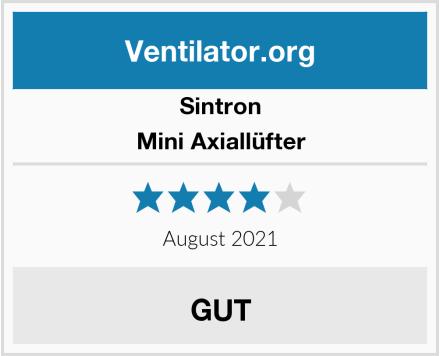 Sintron Mini Axiallüfter Test