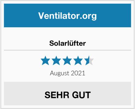 No Name Solarlüfter Test