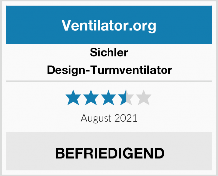 Sichler Design-Turmventilator Test