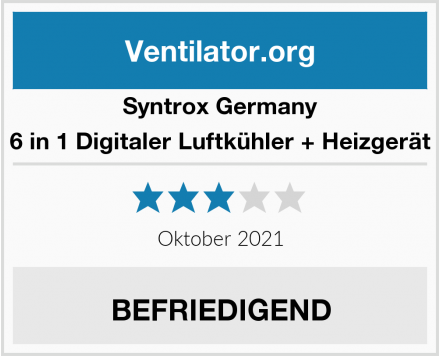 Syntrox Germany 6 in 1 Digitaler Luftkühler + Heizgerät Test