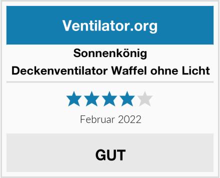Sonnenkönig of Switzerland Deckenventilator Waffel ohne Licht Test