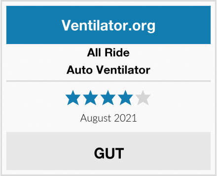 All Ride Auto Ventilator Test