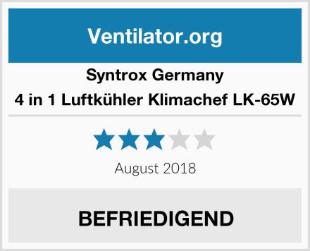 Syntrox Germany 4 in 1 Luftkühler Klimachef LK-65W Test