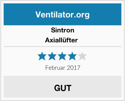 Sintron Axiallüfter  Test