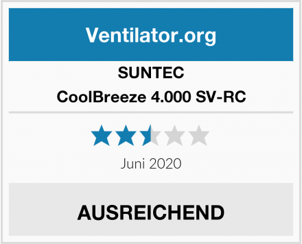 SUNTEC CoolBreeze 4.000 SV-RC Test