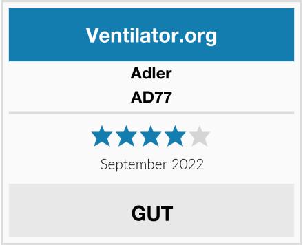 Adler AD77 Test
