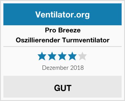 Pro Breeze Oszillierender Turmventilator Test