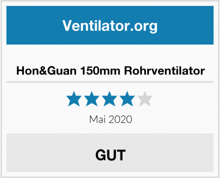 Hon&Guan 150mm Rohrventilator Test