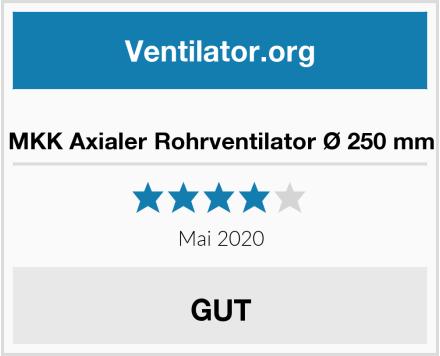 No Name MKK Axialer Rohrventilator Ø 250 mm Test