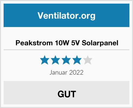 Peakstrom 10W 5V Solarpanel Test