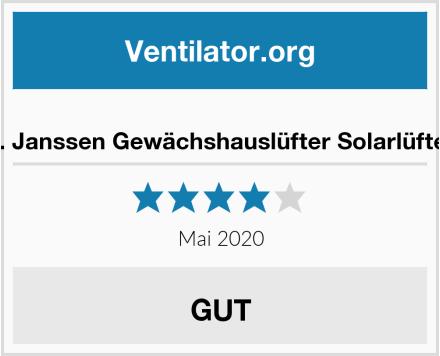 S. Janssen Gewächshauslüfter Solarlüfter Test