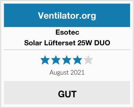 Esotec Solar Lüfterset 25W DUO Test