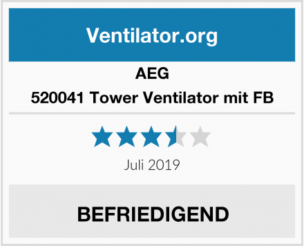 AEG 520041 Tower Ventilator mit FB Test
