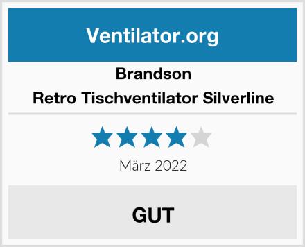Brandson Retro Tischventilator Silverline Test