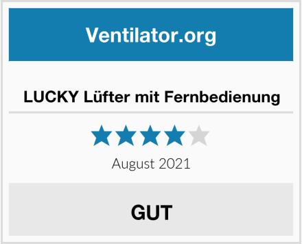 LUCKY Lüfter mit Fernbedienung Test