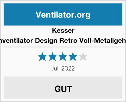 Kesser Tischventilator Design Retro Voll-Metallgehäuse Test
