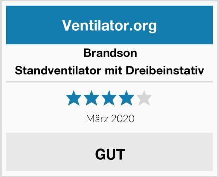 Brandson Standventilator mit Dreibeinstativ Test