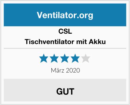 CSL Tischventilator mit Akku Test