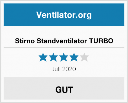 Stirno Standventilator TURBO Test