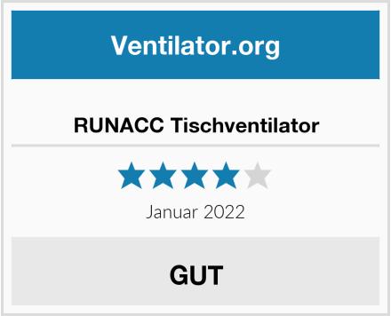 RUNACC Tischventilator Test