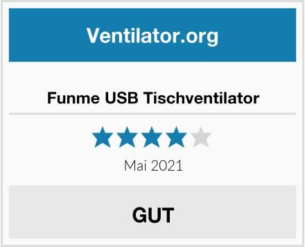 Funme USB Tischventilator Test