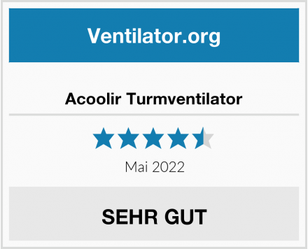 Acoolir Turmventilator Test