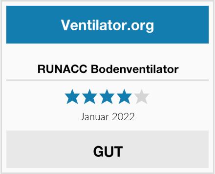 RUNACC Bodenventilator Test