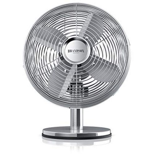Brandson Retro Tischventilator Silverline
